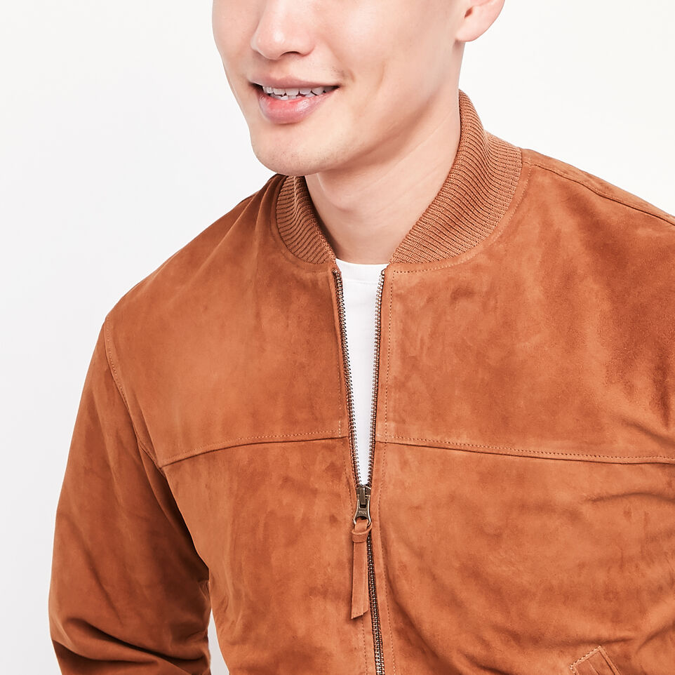 Roots-undefined-Blouson Jacket Suede-undefined-B