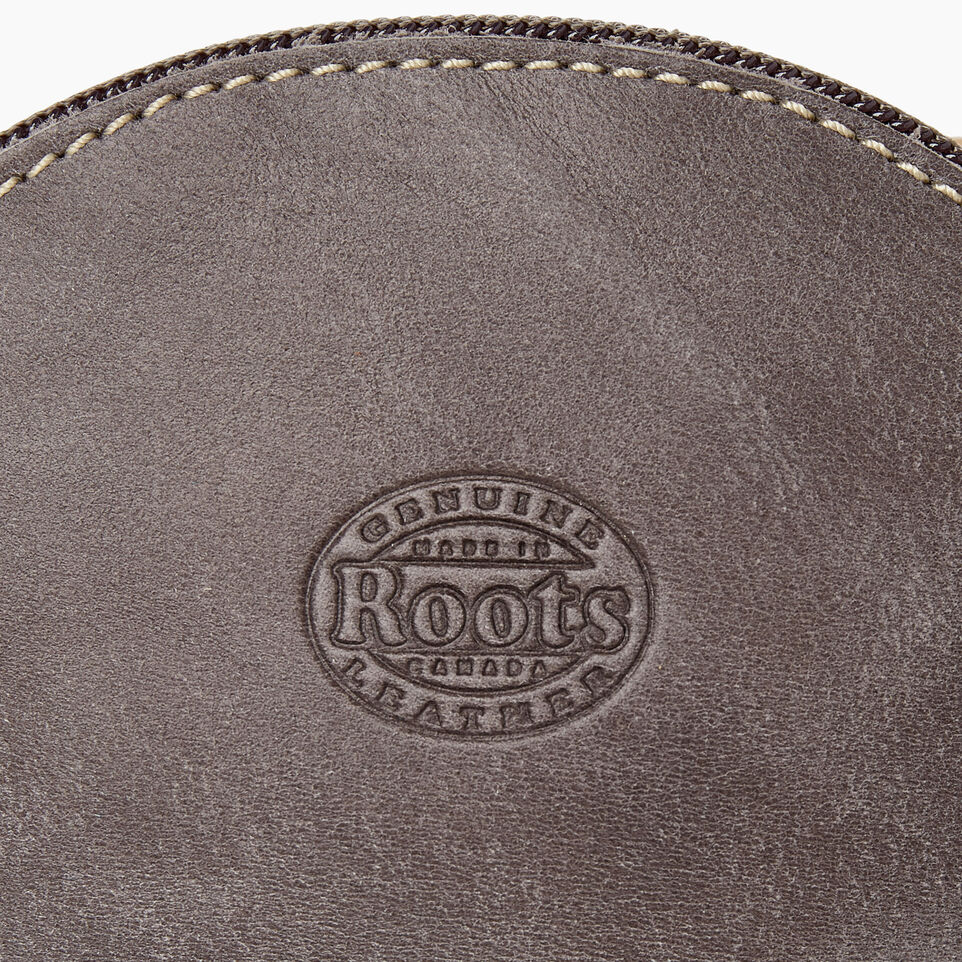Roots-Women Leather Accessories-Small Euro Pouch-Charcoal-D