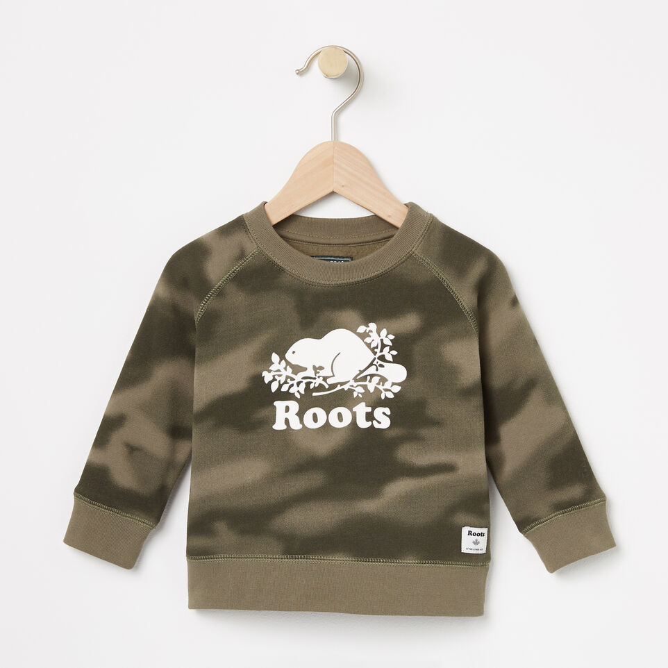 Roots-Baby Blurred Camo Crew