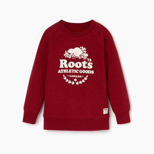 Roots-Clearance Kids-Toddler Laurel Crewneck Sweatshirt-Cabin Red Mix-A