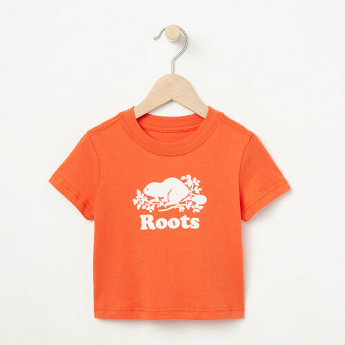 Roots-Winter Sale Baby-Baby Cooper Beaver T-shirt-Maple Orange-A