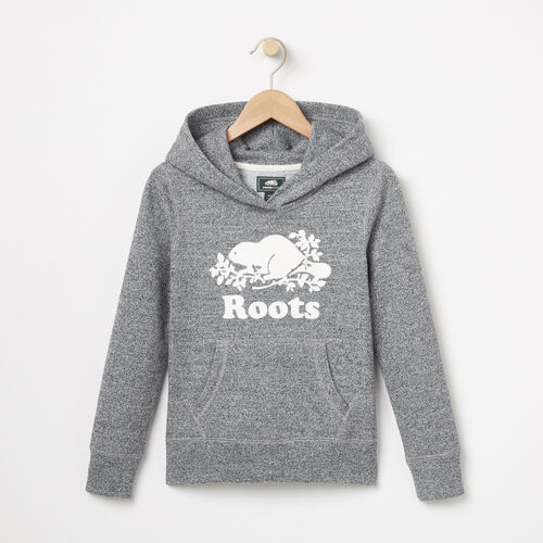 Roots-Kids Categories-Girls Roots Salt and Pepper Original Kanga Hoody-Salt & Pepper-A
