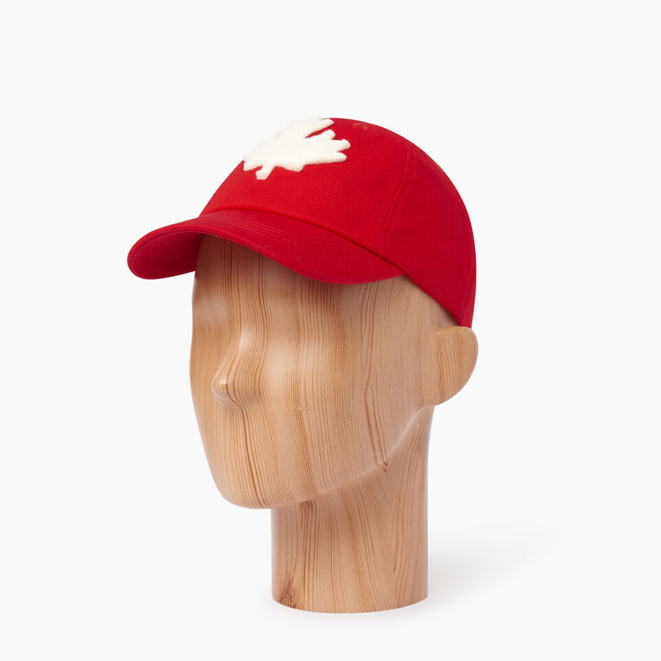 Roots-Clearance Kids-Kids Canada Baseball Cap-Red-B