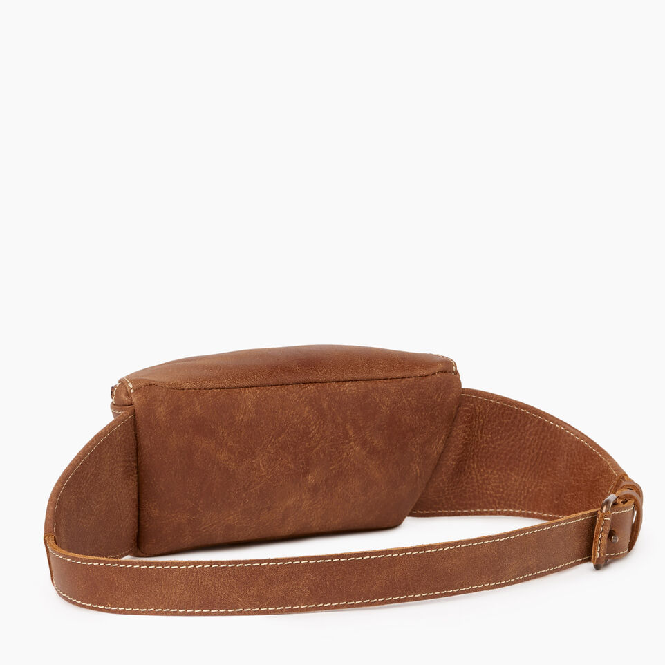 Roots-Leather Our Favourite New Arrivals-Small Fanny Pack-Natural-C