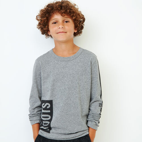 Roots-Kids Our Favourite New Arrivals-Boys Roots 1973 T-shirt-Salt & Pepper-A