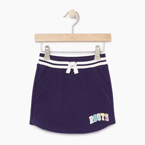 Roots-Kids Toddler Girls-Toddler Roots Varsity Skirt-Eclipse-A