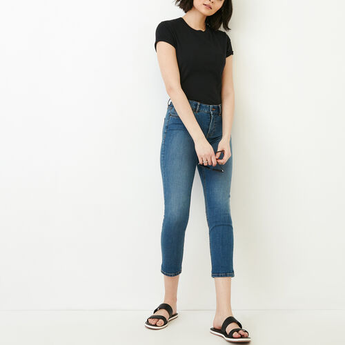 Roots-Women Our Favourite New Arrivals-Cropped Stretch Riley Jean-Med Denim Blue-B