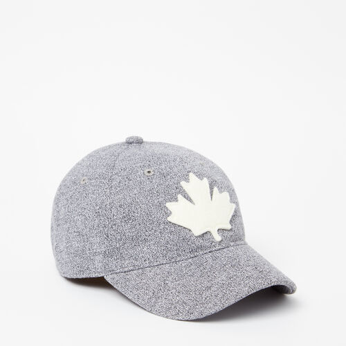 Roots-Clearance Kids-Kids Canada Leaf Baseball Cap-Salt & Pepper-A