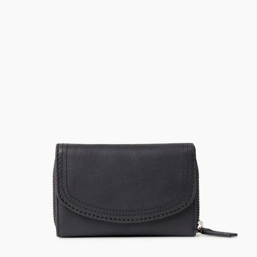 Roots-Women Wallets-Small Canmore Wallet Tribe-Jet Black-A