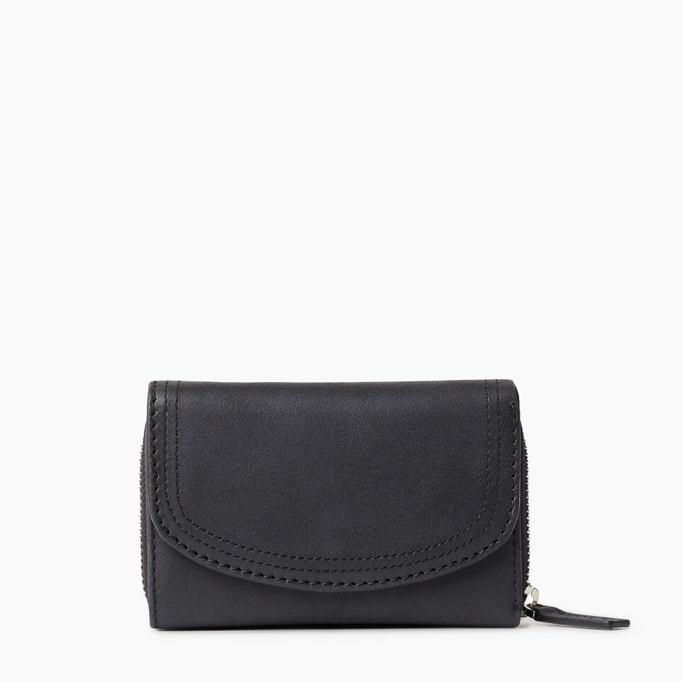 Roots-Leather Categories-Small Canmore Wallet Tribe-Jet Black-A
