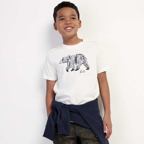 Roots-Kids New Arrivals-Boys Woodland Animal T-shirt-Natural-A