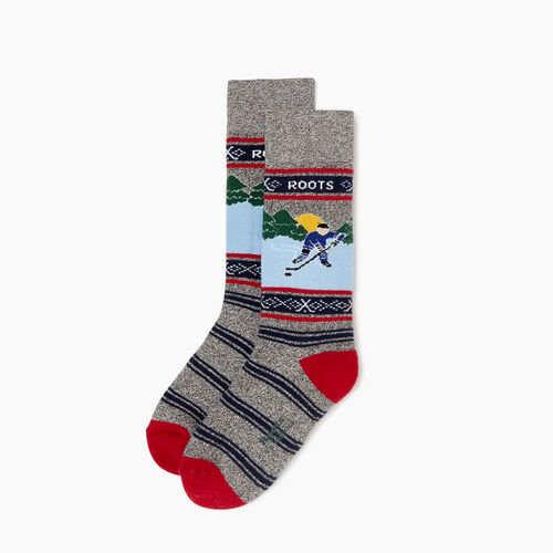 Roots-Kids Our Favourite New Arrivals-Kids Winter Break Boot Sock-Grey Mix-A