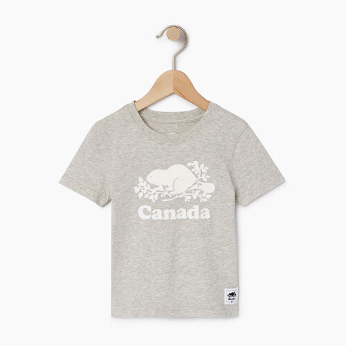 Roots-Kids T-shirts-Toddler Canada T-shirt-Grey Mix Pepper-A