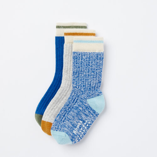 Roots-Kids Accessories-Toddler Cabin Sock 3 Pack-Palace Blue-A