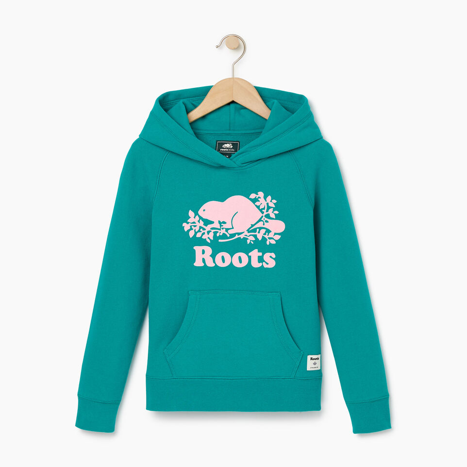 Roots-Kids New Arrivals-Girls Original Kanga Hoody-Dynasty Turquoise-A