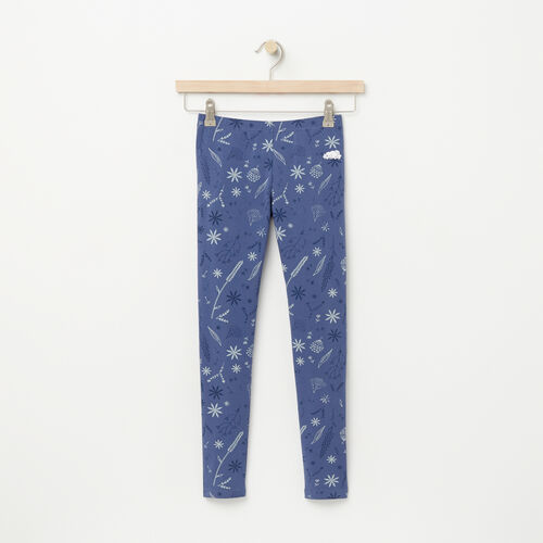 Roots-Sale Girls-Girls Floral Legging-Force Blue-A