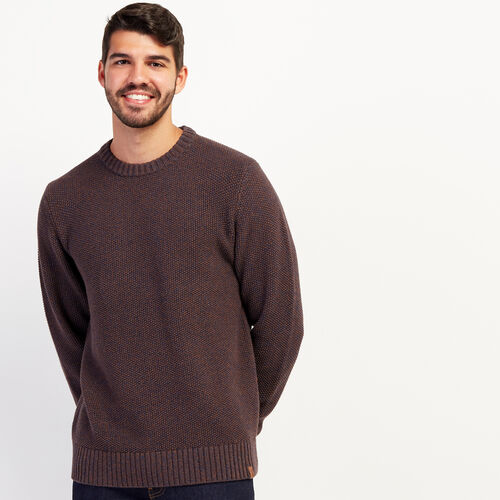 Roots-Men New Arrivals-Canoe Lake Crew Sweater-Treehouse Brown-A