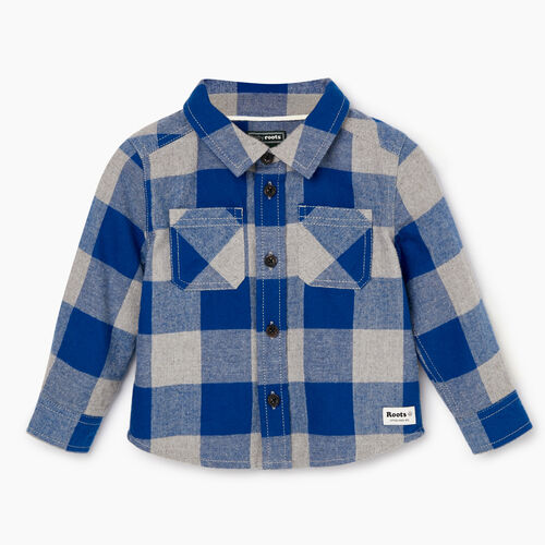 Roots-Sale Kids-Baby Park Plaid Shirt-Active Blue-A