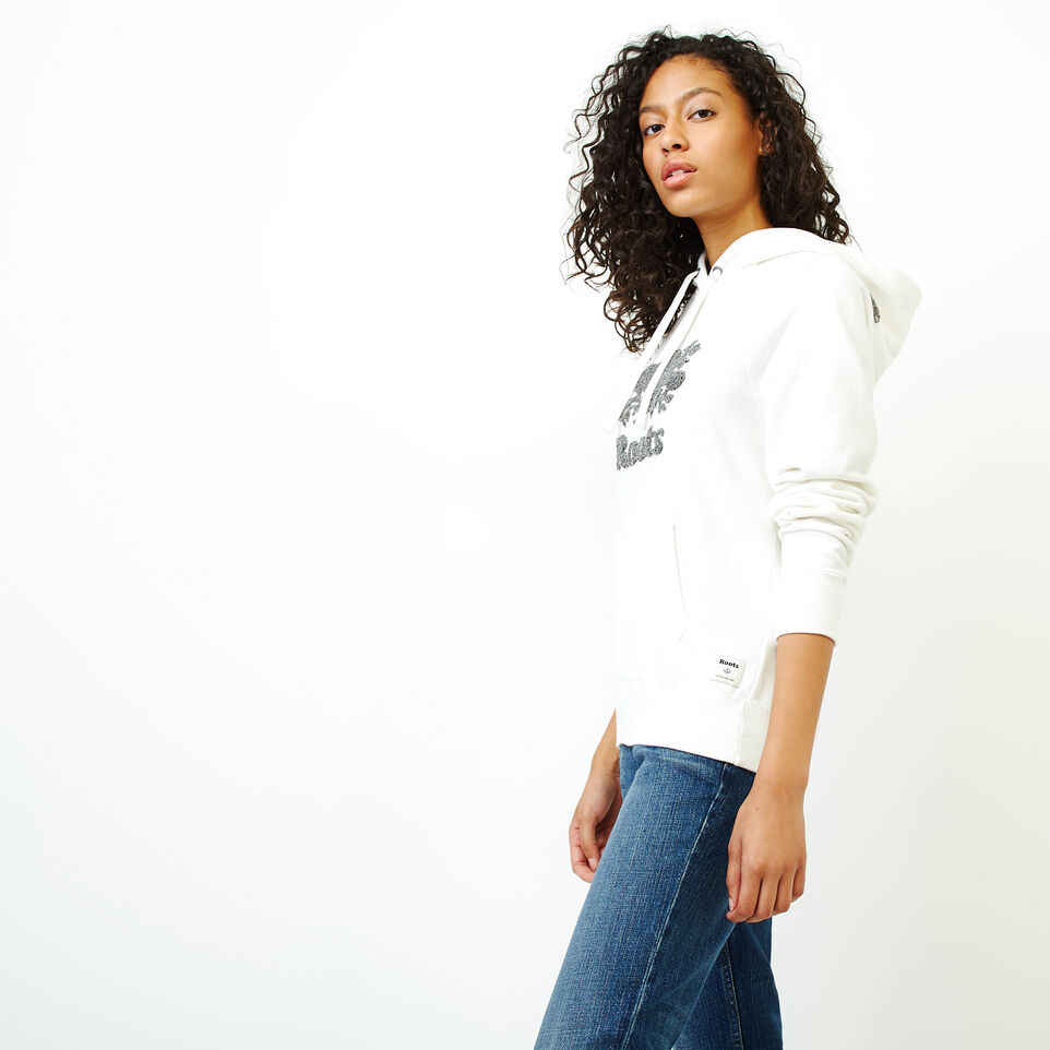 Roots-Women Clothing-Chenille Cooper Beaver Hoody-Ivory-C