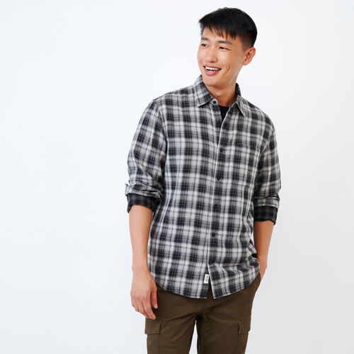 Roots-Men Shirts & Polos-Double Cloth Shirt-Black-A