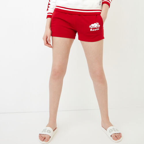 Roots-Women Shorts & Skirts-Original Sweatshort-Sage Red-A