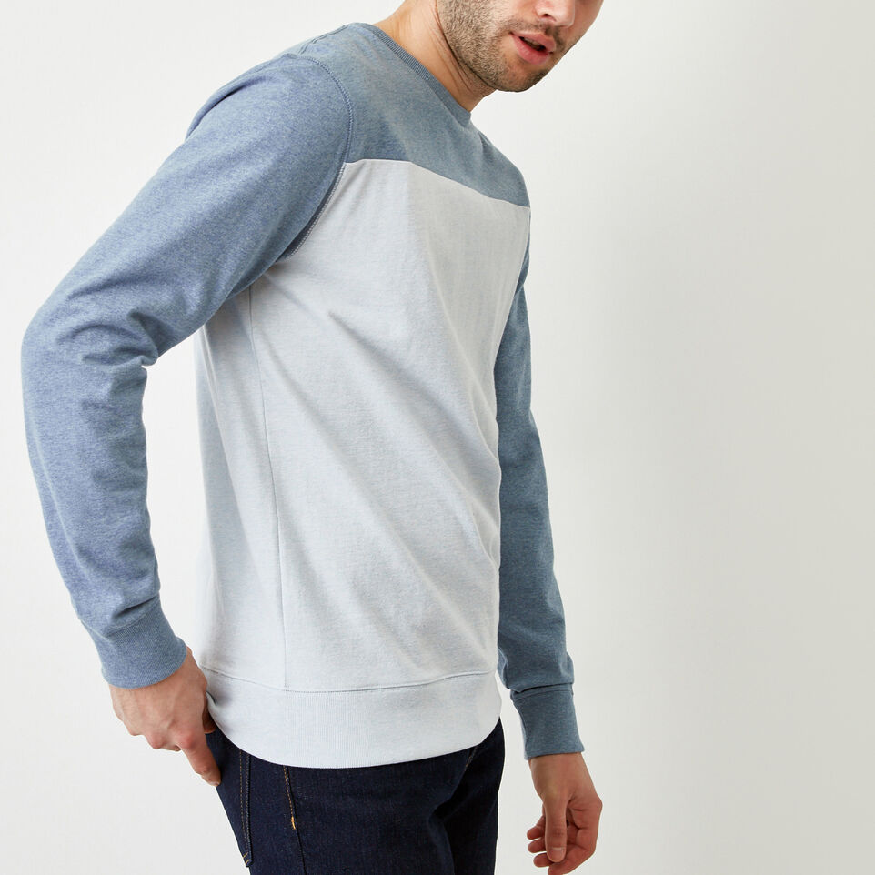 Roots-Men Our Favourite New Arrivals-Fraser Crew Top-Celestial Blue Mix-C