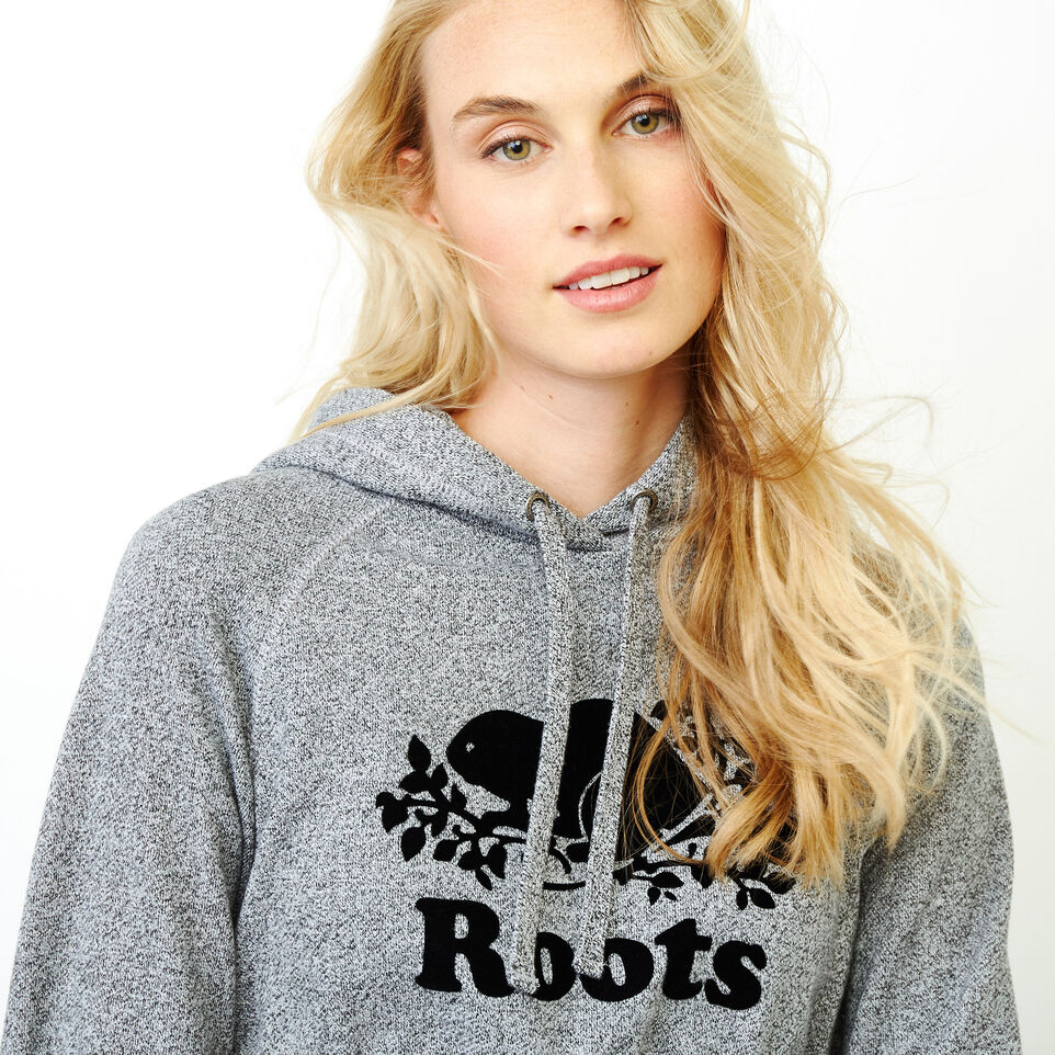 Roots-Women Categories-Roots Salt and Pepper Cropped Hoody-Salt & Pepper-E