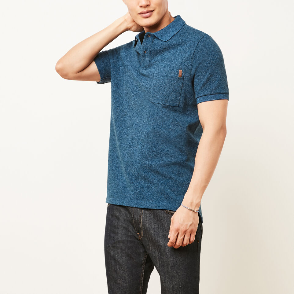 Roots-undefined-Heritage Peppered Polo-undefined-A