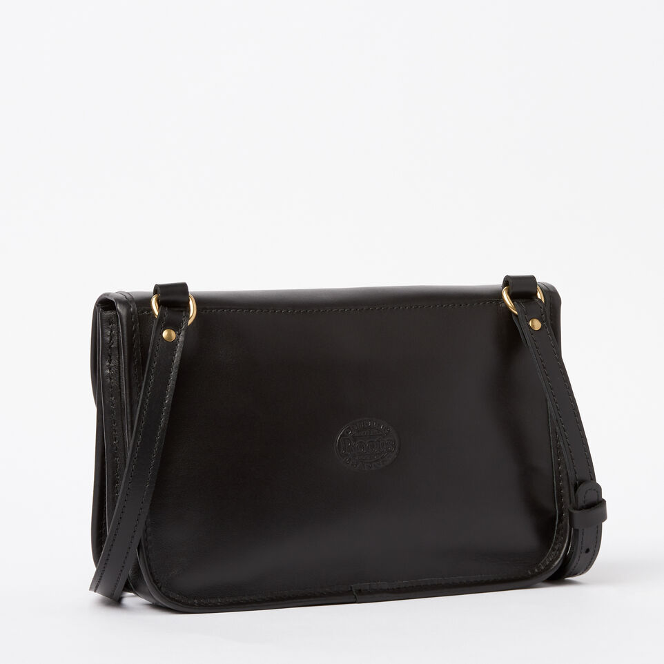 Roots-Winter Sale Leather-Sandys Bag Heritage-Black-C