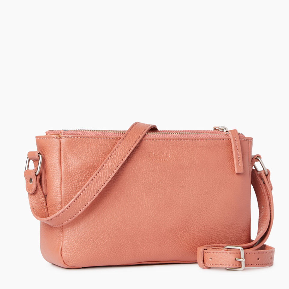 Roots-Leather Categories-Main Street Crossbody-Canyon Rose-C