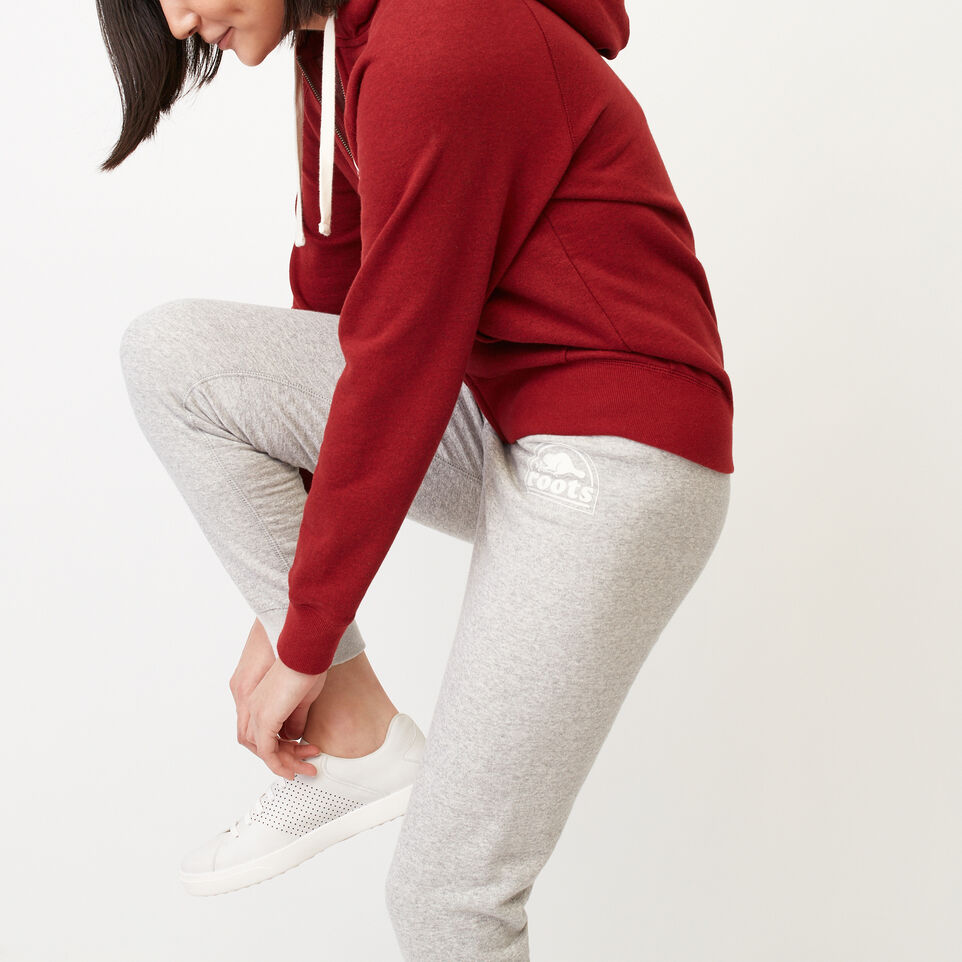 Roots-Clearance Women-Roots Vault Full Zip Hoody-Cabin Red Mix-C