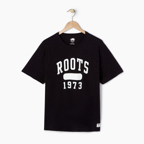 Roots-Men Our Favourite New Arrivals-Mens Block 1973 Canada T-shirt-Black Mix-A