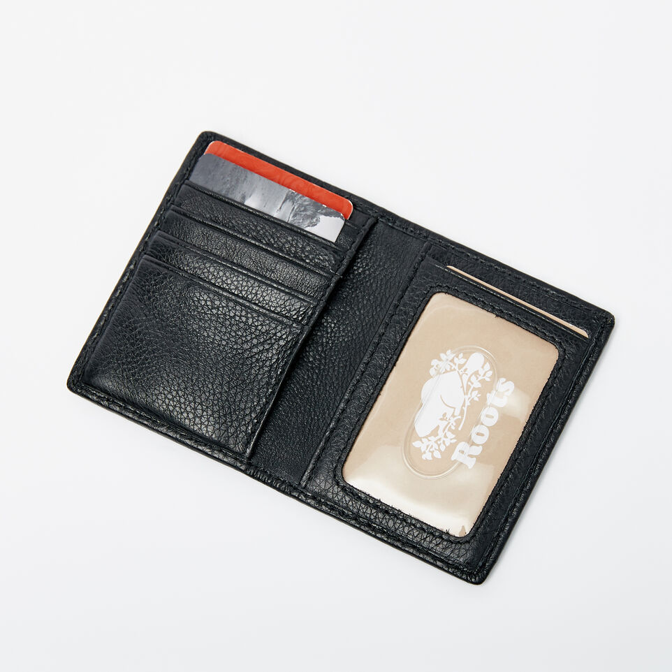 Roots-Men Wallets-Card Case With Id-Black-B