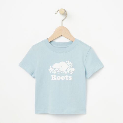 Roots-Winter Sale Baby-Baby Cooper Beaver T-shirt-Celestial Blue-A