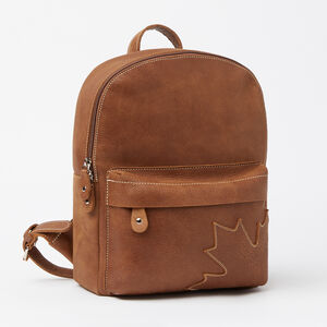 Roots-Leather Leather-Trans Canada Backpack Tribe-Africa-A
