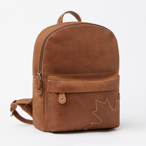 Roots-Leather Backpacks-Trans Canada Backpack Tribe-Natural-A