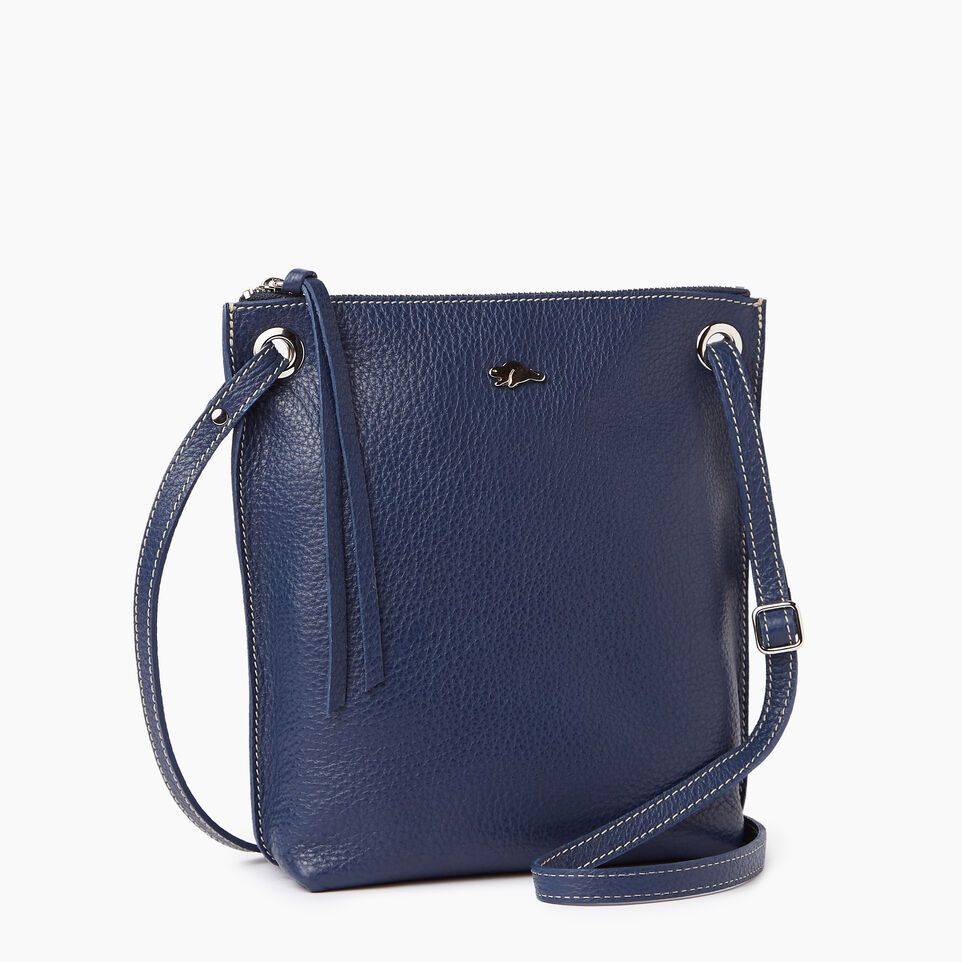 Roots-Leather  Handcrafted By Us Our Favourite New Arrivals-Festival Bag-Navy-A