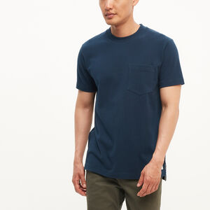 Roots-New For March Men-7 Oz Jersey Pocket T-shirt-Cascade Blue-A