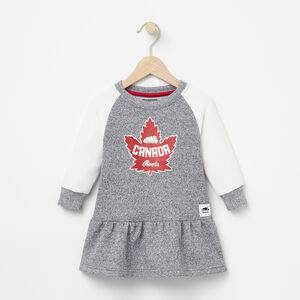 Roots-Kids Canada Collection-Baby Heritage Canada Dress-Salt & Pepper-A