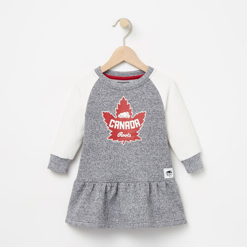 Roots-Kids Collections-Baby Heritage Canada Dress-Salt & Pepper-A