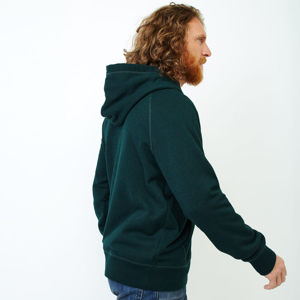 Roots-Men Sweatshirts & Hoodies-Chenille Kanga Hoody-Varsity Green Pepper-C