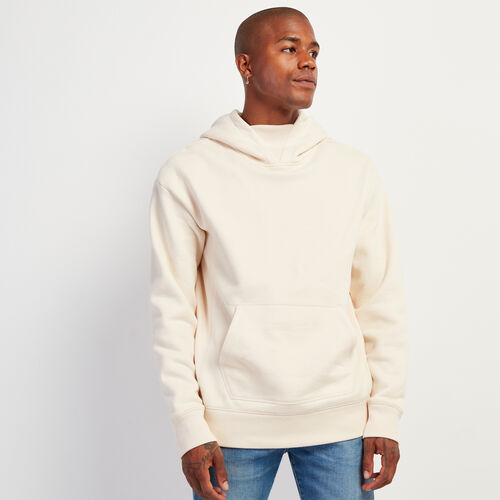 Roots-Sweats Sweatshirts & Hoodies-Parkdale Relaxed Kanga Hoody-Cream-A