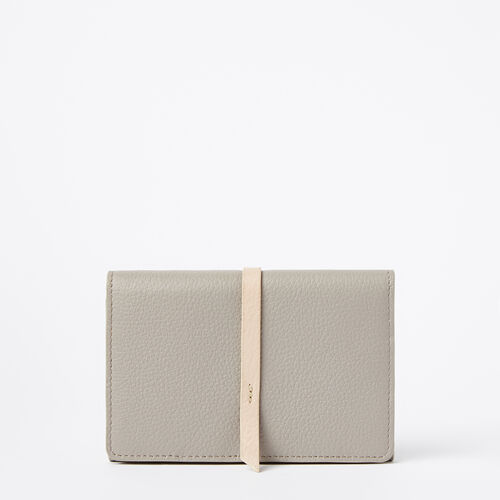 Roots-Leather Wallets-Clutch Wallet Prince-Greystone-A