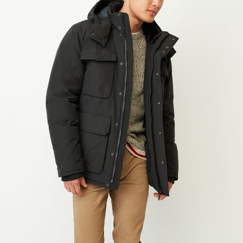 Roots-Men Outerwear-Yonge Down Jacket-Black-A