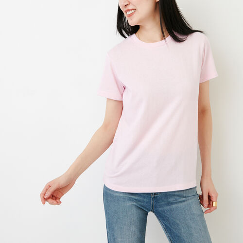 Roots-Women Our Favourite New Arrivals-Perfect Peppered T-shirt-Pink Mist Pepper-A
