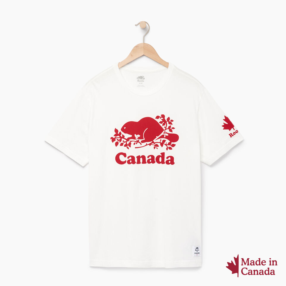 Roots-New For April Canada Collection By Roots™-Mens Cooper Canada T-shirt-Ivory-A