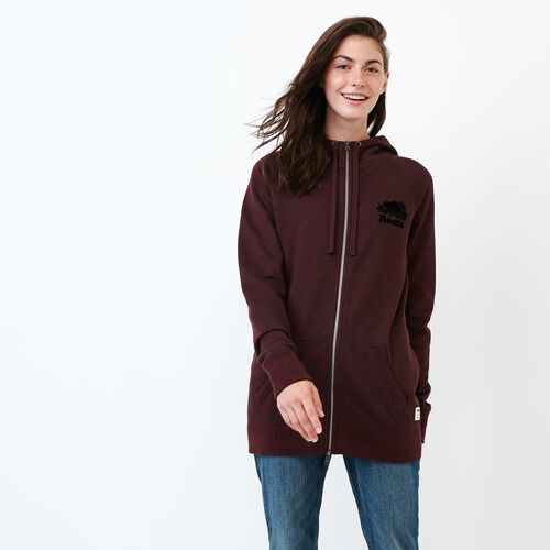 Roots-Women Categories-Capri Full Zip Hoody-Crimson Pepper-A
