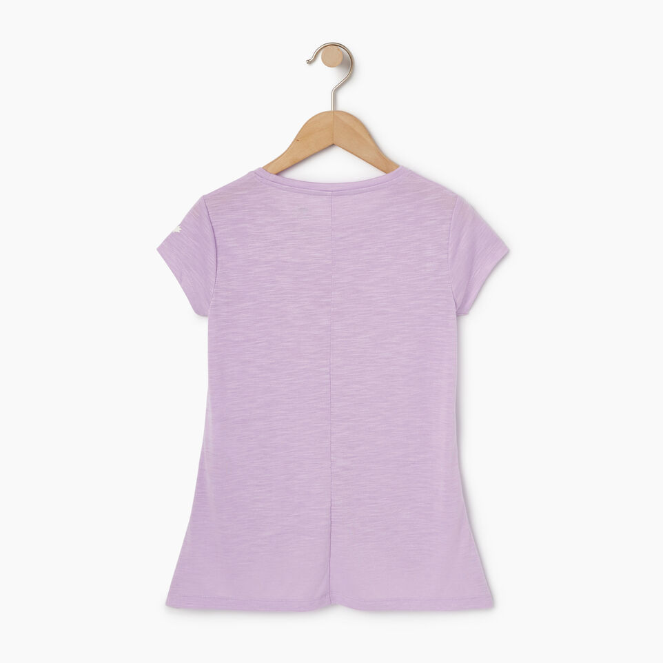 Roots-New For August Kids-Girls Lola Active Swing T-shirt-Lavendula-B
