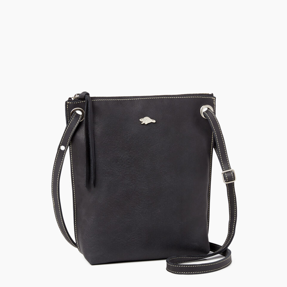 Roots-Leather  Handcrafted By Us Handbags-Festival Bag Tribe-Jet Black-A