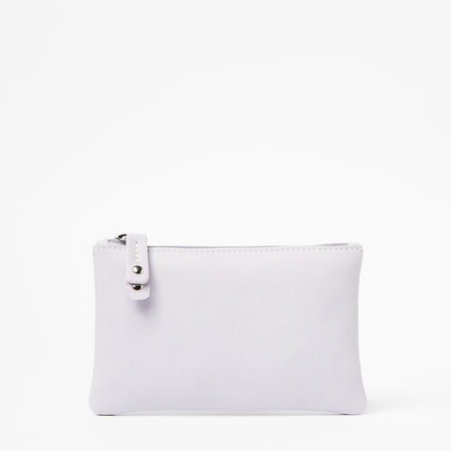 Roots-Leather New Arrivals-Medium Zip Pouch Tribe-Thistle-A